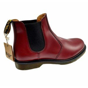 Dr Martens Mens Round Toe Ankle Burgundy Boots 13